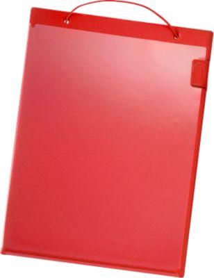 Auftragstaschen, Klettverschluss, DIN A4, rot