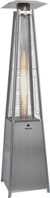 Außenheizung PHÖNIX, Aluminium/Glasröhre, mit Gas, elektrische Zündung, 9300 W, windgeschützt