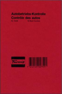 Autobetriebs-Kontrolle, 16 Blatt