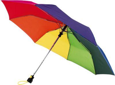 Automatik-Taschenschirm Prima, regenbogenfarben