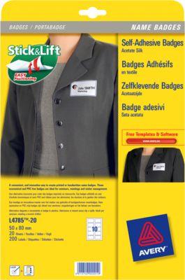 AVERY Badges,  40 x 75 mm, 240 stuks