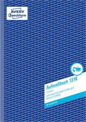 AVERY® Zweckform Aufmaßbuch Nr. 1318, 2 Blatt Blaupapier