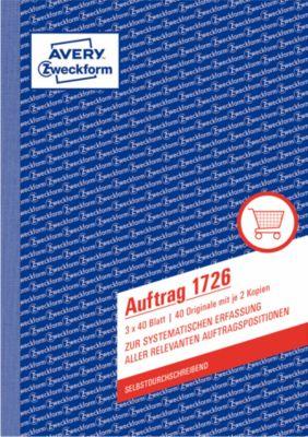 Avery Zweckform Auftragsformulare Nr. 1726
