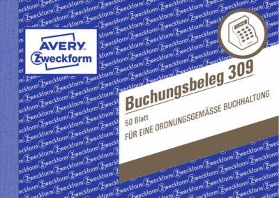 AVERY® Zweckform Buchungsbeleg Nr. 309