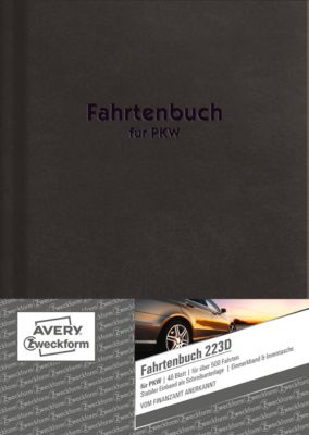 Avery Zweckform Fahrtenbuch, Hardcover, DIN A5, 48 Blatt