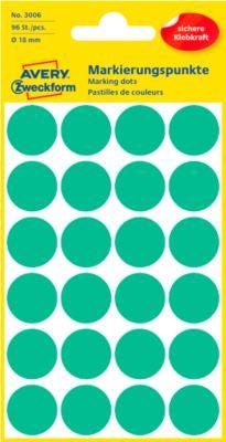 AVERY Zweckform Gekleurde Markeringspunten, Ø 18 mm, # 3006,  groen