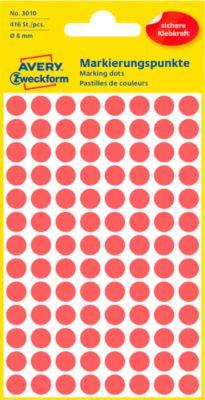 AVERY Zweckform Gekleurde Markeringspunten, Ø 8 mm, # 3010, roodl, pak