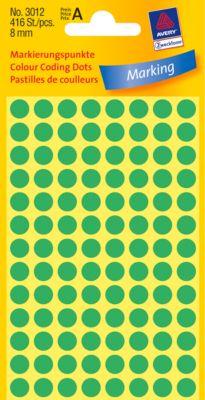 AVERY Zweckform Gekleurde Markeringspunten, Ø 8 mm, # 3012, groen, pak