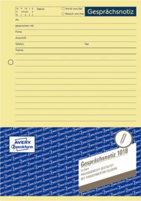 Avery Zweckform Gesprächsnotiz-Block Nr. 1018