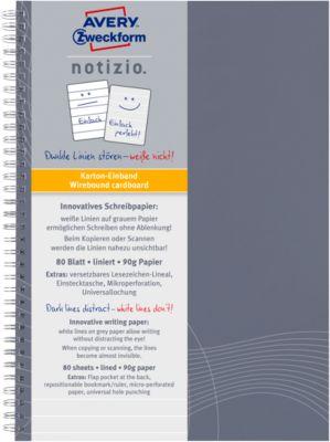 AVERY ZWECKFORM Notizbuch Notizio 7010, DIN A5, liniert, 80 Blatt