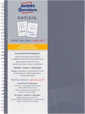 AVERY ZWECKFORM Notizbuch Notizio Basic 7011, DIN A5, kariert, 80 Blatt