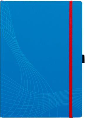 AVERY ZWECKFORM Notizbuch Notizio, Softcover, 80 Blatt, DIN A4, kariert, blau