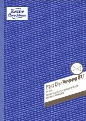 Avery Zweckform Post Ein-/Ausgangsbuch Nr. 931