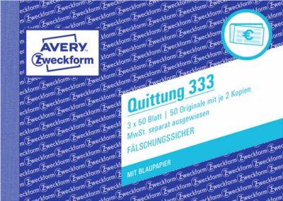 AVERY® Zweckform Quittung 1. und 2. Blatt bedruckt, Nr. 333