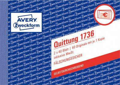 Avery Zweckform Quittungen Nr. 1736