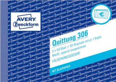 Avery Zweckform Quittungen Nr. 306