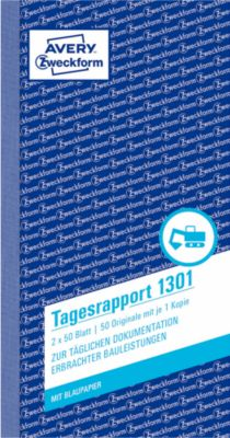 AVERY™ Zweckform Tagesrapport Nr. 1301