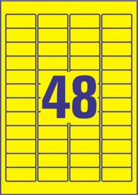 Avery Zweckform Wetterfeste Folien-Etiketten L6103-20, 45,7 x 21,2 mm, permanent, gelb