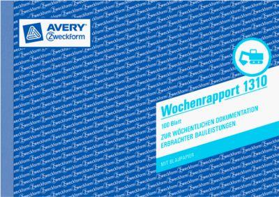 AVERY® Zweckform Wochenrapport, 2 Blatt Nr. 1310