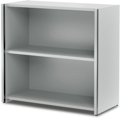 AXXETO boekenkast, 2 OH, B. 800 x D 380 x H 760 mm, lichtgrijs