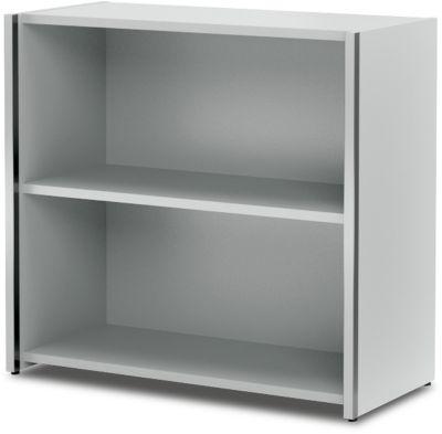 AXXETO individuele open kast, 2 OH, b 800 x d 380 x h 760 mm, lichtgrijs