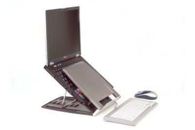 BakkerElkhuizen Laptophouder Ergo-Q 330, in hoogte verstelbaar, tot 17 inch, voor onderweg.