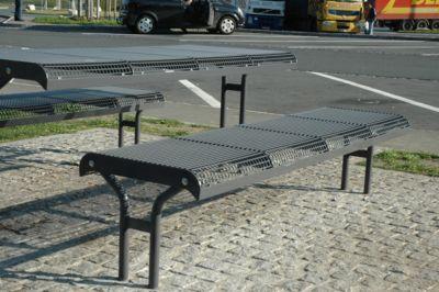 bank Essen, zonder rugleuning, krukje, 4 stoelen, in beton, wijnrood, in te stellen