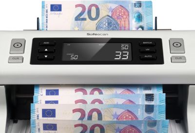Banknotenzähl- und Prüfgerät Safescan 2210, mit UV-Falschgelderkennung