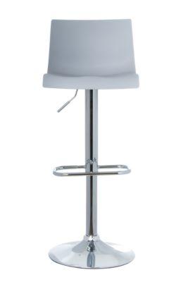 Barkruk Paperflow Sacramento, PP zitting, in hoogte verstelbaar, 360° draaibaar, H 590-815 mm, grijs, set van 2 stuks, met een hoogte-instelling van 2,5 mm.