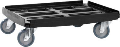 Basis transportrol serie WTR2, voor dozen van 600 x 400 mm, polypropyleen, voor 600 x 400 mm.