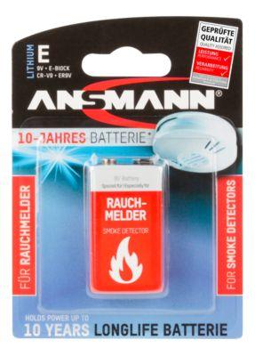 Batterijen, voor rookmelder, E-blok, 9 V, 10 jaar houdbaarheid