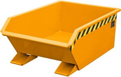 Bauer mini-kiepbak MGU 270, 350 mm gietrandhoogte, 270 liter, oranje