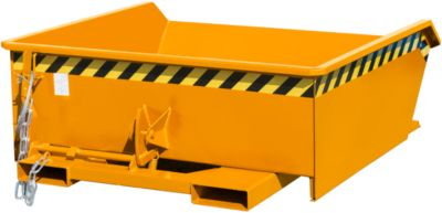 Bauer mini-kiepbak MGU 460, 350 mm gietrandhoogte, 460 liter, oranje