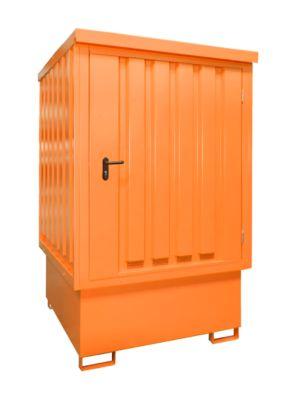Bauer opslagruimte voor gevaarlijke stoffen, TYPE GD-E/IBC, afsluitbaar, opslagcapaciteit tot 1 x 1000 lliter IBC, oranje