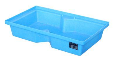 Bauer PE opvangbak voor pallets, opvangbak in PE, inhoud 60 L, blauw