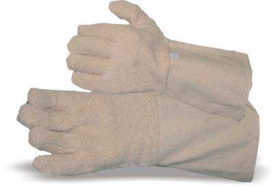 Baumwolle Schlingen-Handschuh mit Stulpe