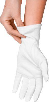 Baumwollhandschuhe, weiß, 12 Stück, Größe XXL