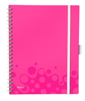 Be Mobile notebook - A4 - Geruit - roze