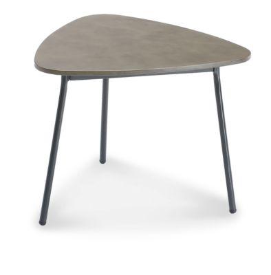 Beistelltisch Andros, robuste Tischplatte, B600xT570xH450 mm, anthrazit/betongrau