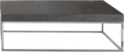 Beistelltisch Beton, 1200 x 750 x 380 mm, chrom