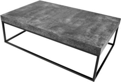 Beistelltisch Beton, 1200 x 750 x 380 mm, schwarz