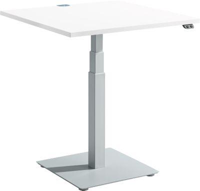 Beistelltisch FLEXXAS, elektrisch höhenverstellbar, ergonomisch, B 800 mm, weiß