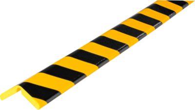 Bescherm.profiel Flex H+ geel/zwart, 1m
