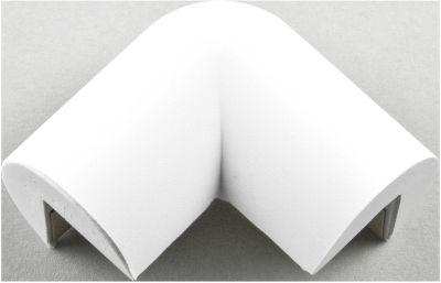 Beschermende hoek, 2-potig, wit