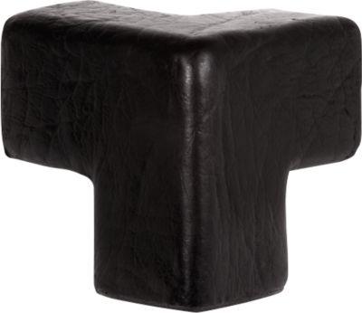 Beschermende hoek voor Knuffi-hoekbeschermingsprofiel type E, 3-poots, polyurethaanschuim, zwart