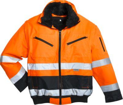 Bescherming-waarschuwing pilotenjas, oranje/blauw, maat 44/46