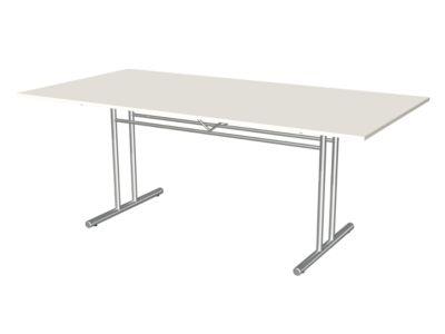 Besprechungstisch Toledo, bis 6 Personen, Rechteck-Form, T-Fuß, B 2000 x T 1000 x H 720 mm, weiß