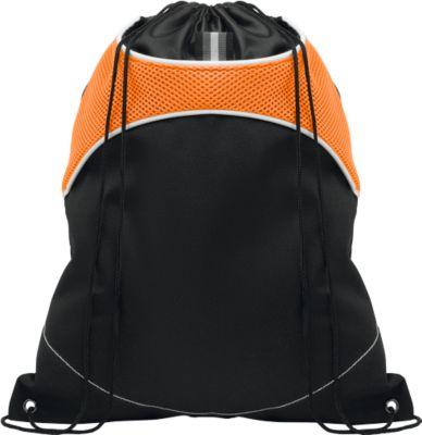 Beutel SHOOP LUX, mit Kordelzug, mit Haupt- und Seitenfach, schwarz/orange