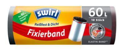 Bevestigingsband vuilniszak Swirl®, 60 liter, 10 stuks, zwart