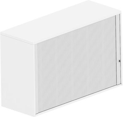 BEXXSTAR opzetkast met roldeuren, 2 OH, met zichtachterwand, b 1200 mm, wit